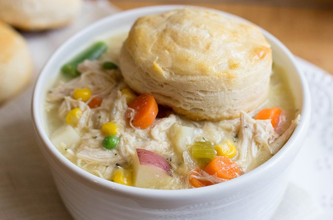 Skinny Slow Cooker Chicken Pot Pie! | And One Love